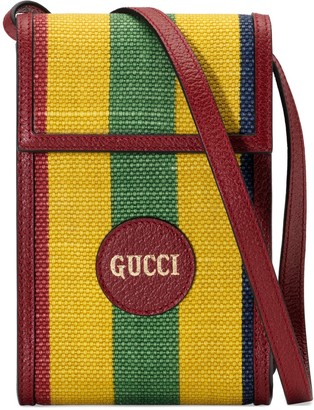 Gucci Baiadera stripe canvas mini bag