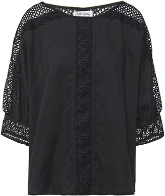 Charo Ruiz Ibiza Crocheted Lace-paneled Cotton-blend Voile Blouse