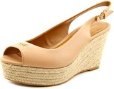 Coach Ferry Women US 8 Nude Wedge Heel