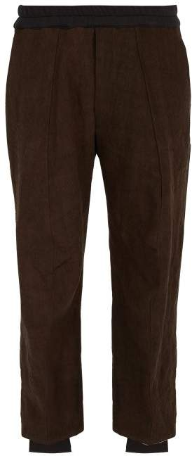 By Walid Victor Two Tone Cotton Blend Trousers - Mens - Brown