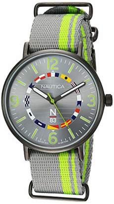 Nautica N83 Men's NAPWGS903 Wave Garden Fabric Slip-Thru Strap Watch
