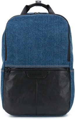 Diesel M Mix Mat panelled backpack