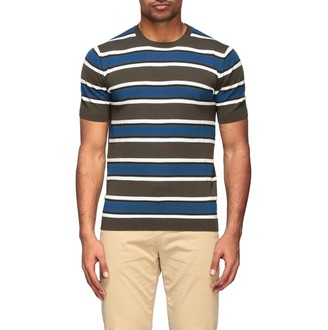 Paolo Pecora T-shirt Crew Neck Sweater With Bands