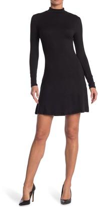 Velvet Torch Mock Skater Dress