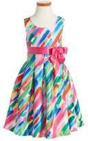Iris & Ivy Girl's Paintstroke Print Shantung Party Dress
