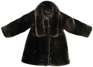 Lili Gaufrette Anthracite Synthetic Jackets & Coats
