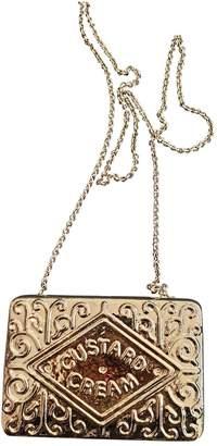 Anya Hindmarch Gold Metal Clutch bags