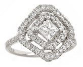 Neiman Marcus Diamonds 18k White Gold Square-Shape Diamond Ring