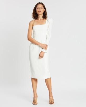 By Johnny. L Shape Shell Sleeve Midi Dress