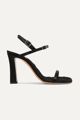 Dries Van Noten Quilted Satin Slingback Sandals - Black