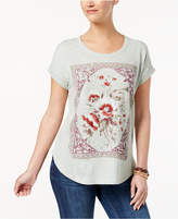 Style&Co. Style & Co Cotton Embroidered Printed T-Shirt, Created for Macy's