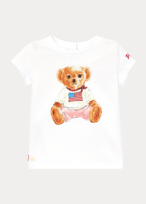 Ralph Lauren Flag Bear Cotton Jersey Tee