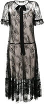 Twin-Set sheer lace dress - women - Polyester/Polyamide/Viscose - 44