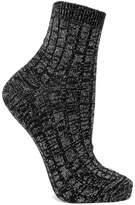 Maria La Rosa Metallic Ribbed Wool-blend Socks