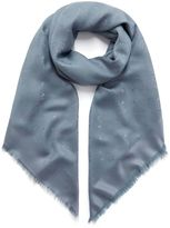 Mulberry Tree Square Blue and Grey Silk Cotton