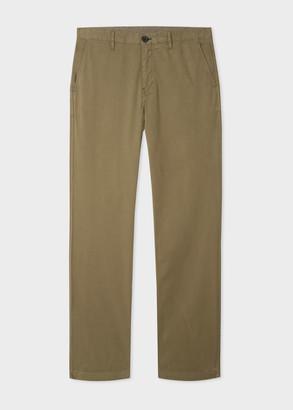 Paul Smith Men's Slim-Fit Khaki Stretch Pima-Cotton Chinos