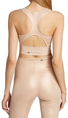 adidas by Stella McCartney Shiny Recycled Cropped Bra Top