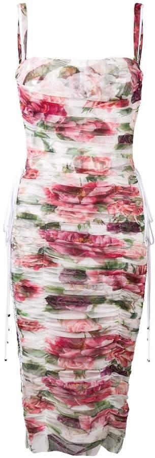 Dolce & Gabbana draped floral dress