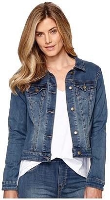Tribal Dream Jeans Jacket (Retro Blue) Women's Coat