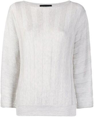 Fabiana Filippi Stripe-Textured Relaxed-Fit Sweatshirt