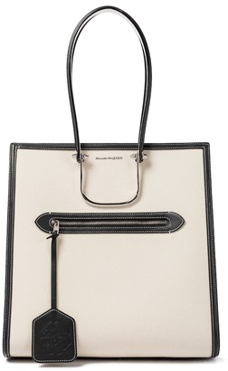 Alexander McQueen The Tall Story canvas tote