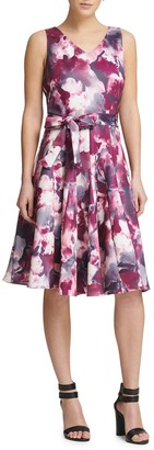 Donna Karan Tie-Dye Fit-&-Flare Dress
