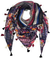 Laundry By Shelli Segal Retro Floral Double Triangle Scarf