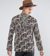 Reclaimed Vintage Inspired Shirt With Lacing In Reg Fit