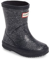 Hunter Toddler Girl's 'First Classic' Glitter Rain Boot