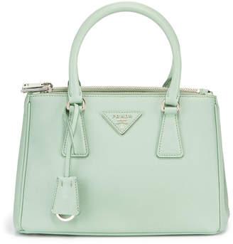 Prada Preowned Executive Saffiano Leather Dual Zip Small Tote Bag