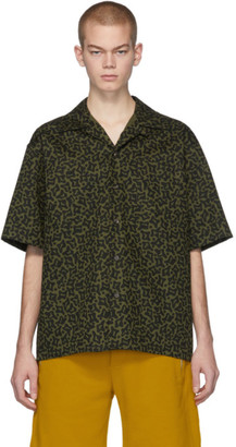 Marni Green and Black Camo Cells Shirt