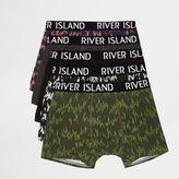River Island Mens Blue printed trunks multipack