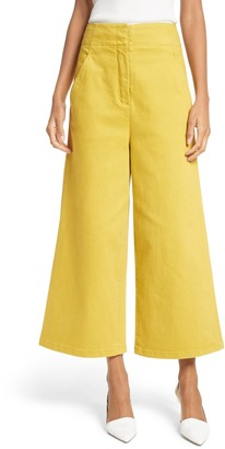 Tibi Demi Cropped Wide Leg Pants