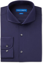 Vince Camuto Men's Slim-Fit Midnight Blue Dobby Solid Dress Shirt