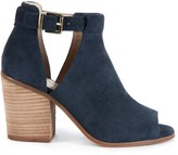 Sole Society Women's Ferris Block Heels Sandals Ink Size 5 Suede From