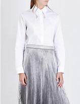 Christopher Kane Collar-embellished cotton-blend shirt