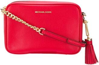 MICHAEL Michael Kors Ginny grained-effect crossbody bag