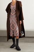Thumbnail for your product : MICHAEL Michael Kors Paisley-print Crepe Midi Dress - Brown