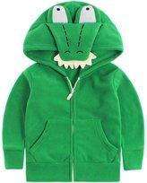 Vine Polar Fleece Jackets Boys Girls Hooded Coats Cartoon Outerwear Front Zip