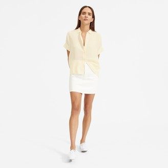 Everlane The Clean Silk Short-Sleeve Square Shirt