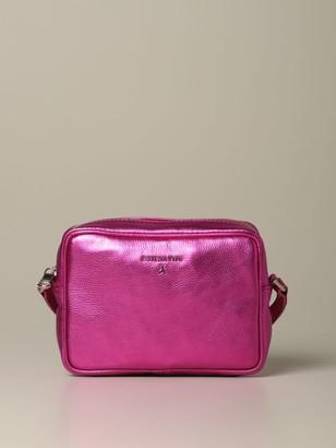 Patrizia Pepe Brick Bag In Metallic Leather