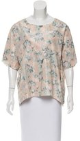 Acne Studios Batik Print Short Sleeve Top