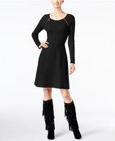 INC International Concepts Petite Zip-Detail Sweater Dress, Only at Macy's