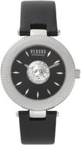 Versus Women's Brick Lane Quartz 2-Hand Leather Strap Watch, 40mm