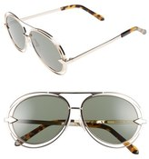 Karen Walker 'Jacques' Aviator 57mm Sunglasses