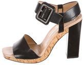 Roger Vivier Leather Cork Sandals