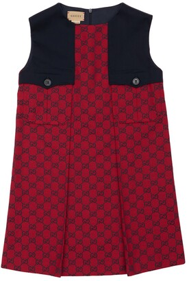 Gucci Gg Sleeveless Cotton Canvas Dress