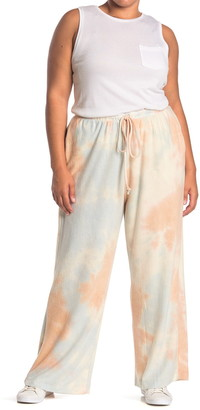 MelloDay Brushed Tie Dye Wide Leg Pants