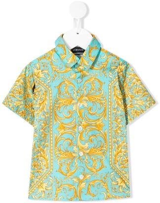Versace Barocco print short sleeve shirt