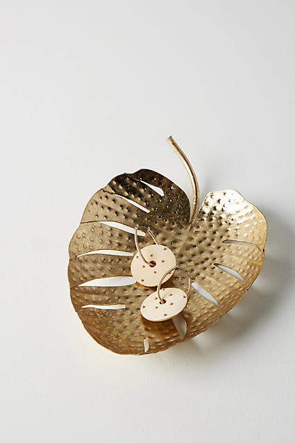 Anthropologie Palm Leaf Dish